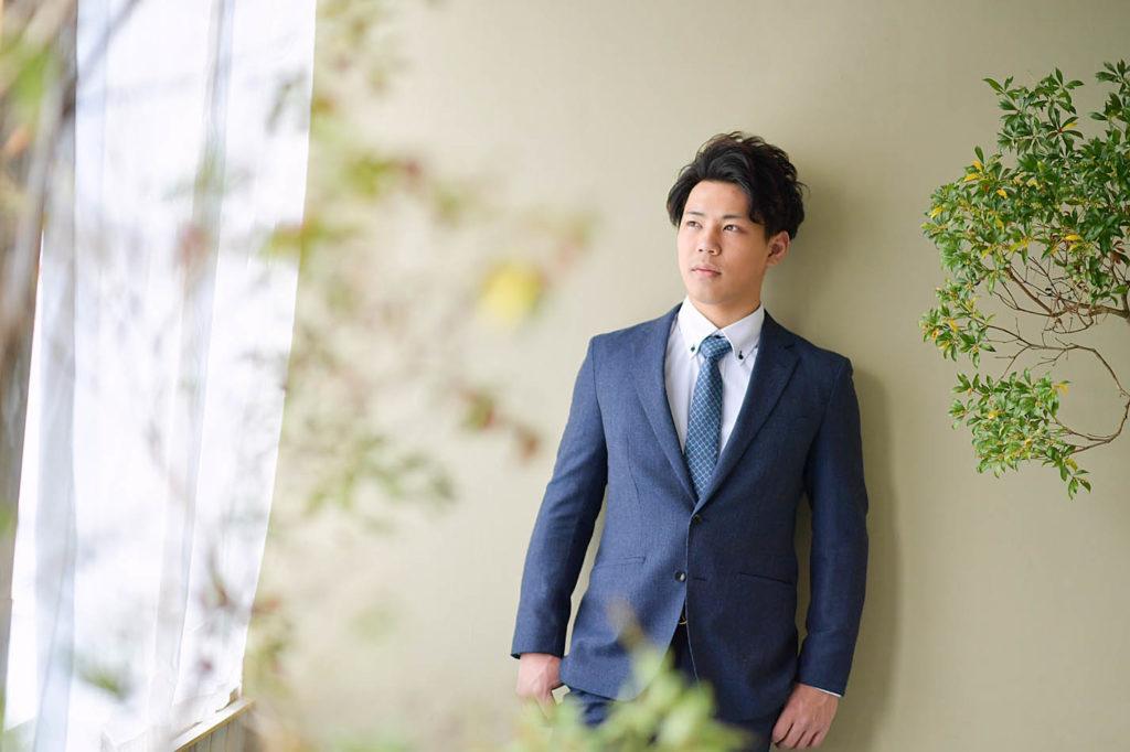 男性成人記念 スーツ