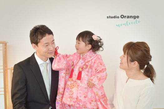 宝塚市 七五三 3歳女の子 スタジオオレンジモンテシート