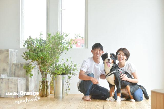 バーニーズ 家族写真 ペットフォト
