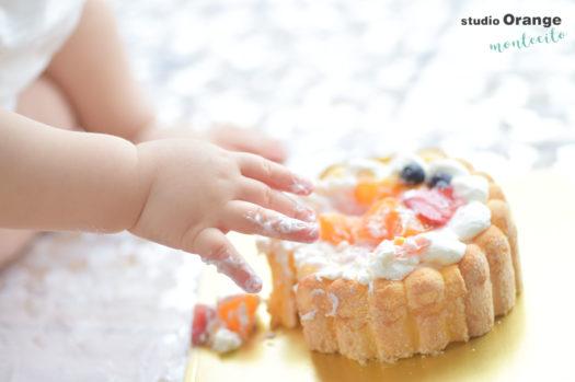 宝塚市 バースデーフォト スマッシュケーキ