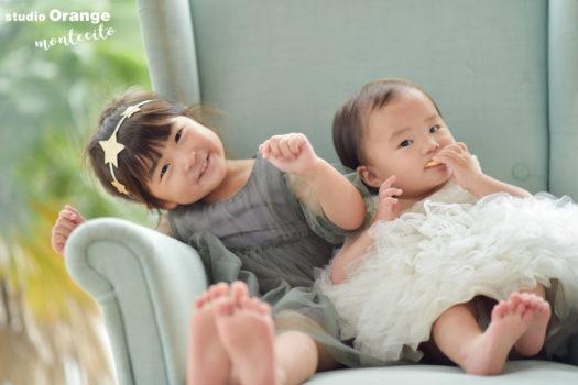 宝塚市 お誕生日写真 姉妹 ドレス