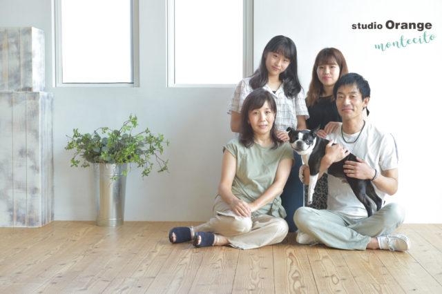 宝塚市 家族写真 犬