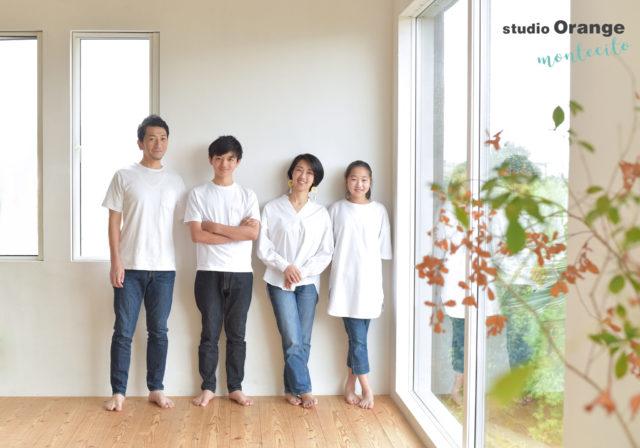 宝塚市 家族撮影 リンクコーデ 白 デニム