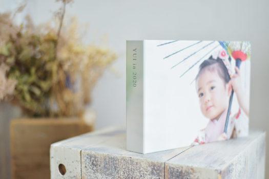 アルバム 七五三 箱入り 箱に写真 着物 女の子 3歳 データ付き