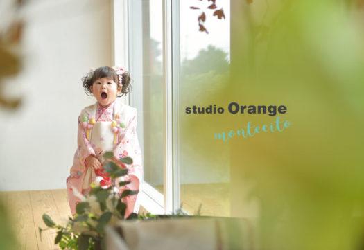 宝塚市 七五三 3歳女の子 お被布 写真館 フォトスタジオ スタジオオレンジモンテシート