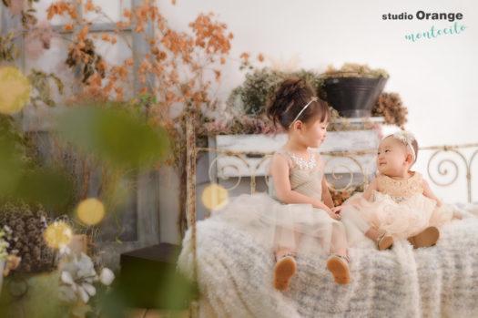宝塚市 七五三 写真館 スタジオオレンジモンテシート 手結び帯 3歳女の子