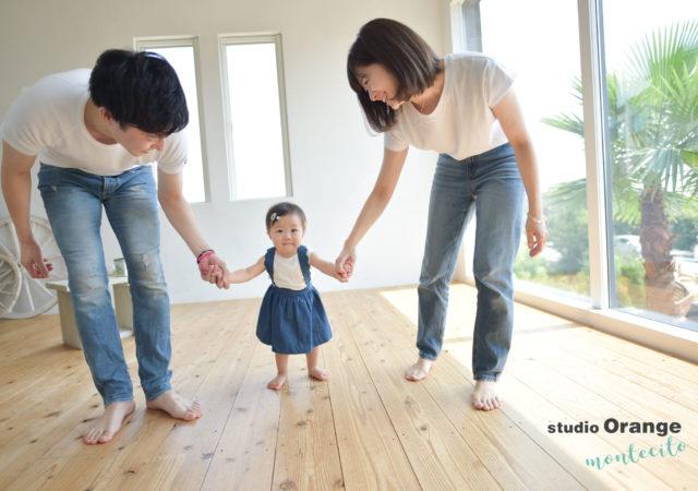 宝塚市 お誕生日撮影 白Tシャツ デニム