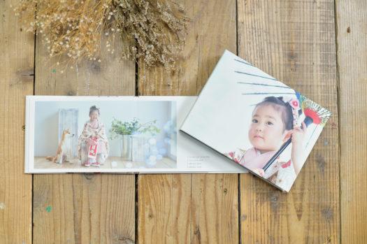 アルバム 七五三 箱入り 箱に写真 着物 女の子 3歳