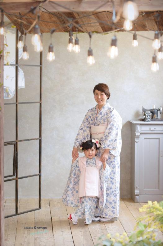 七五三 3歳女の子 被布 訪問着 宝塚市 写真館 スタジオオレンジモンテシート