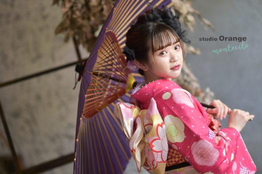 成人式 前撮り 振袖 宝塚市 写真館 スタジオオレンジモンテシート
