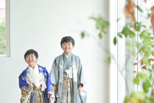 宝塚市 七五三撮影 兄弟撮影 着物 袴