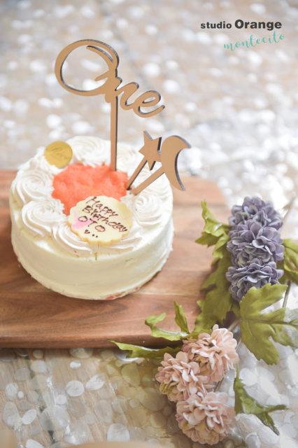 枚方市 お誕生日フォト スマッシュケーキ