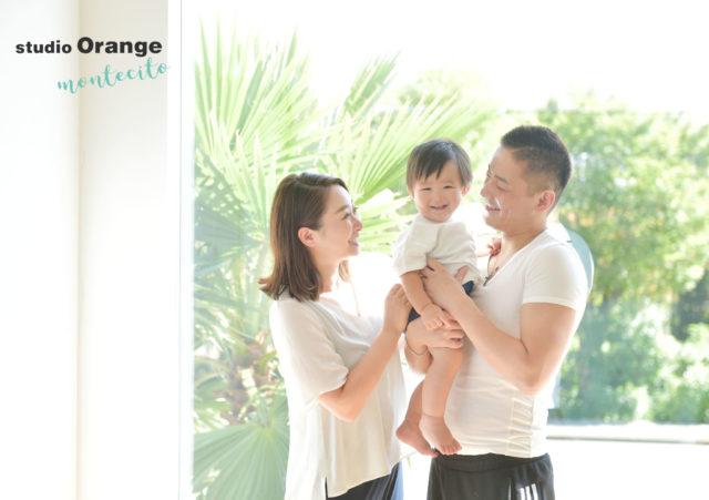 宝塚市 お誕生日 家族撮影 白Tシャツ