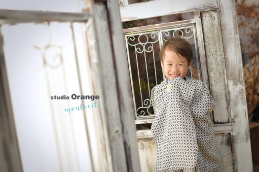 七五三 宝塚市 フォトスタジオ スタジオオレンジモンテシート 写真館 和装 着物