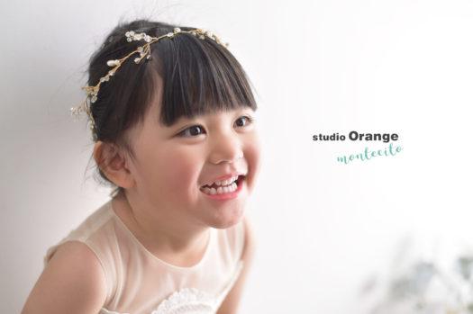 七五三 3才女の子 ドレス 写真館 スタジオオレンジモンテシート