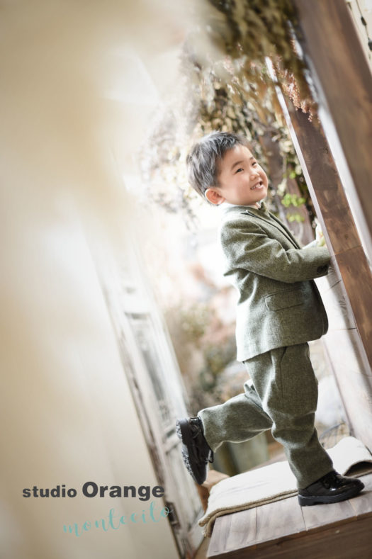 茨木市 七五三 男児被布持ち込み撮影