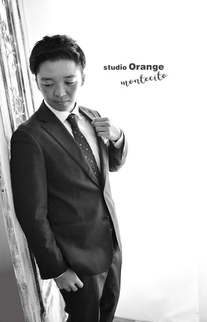 宝塚市 成人式 前撮り 後撮り スーツ 男性成人 スタジオオレンジモンテシート