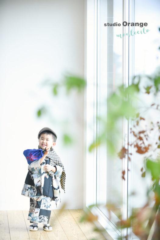 七五三 宝塚市 中山寺お参り 和装 フォトスタジオ 写真館 スタジオオレンジモンテシート