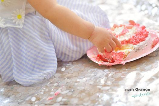 伊丹市 バースデー スマッシュケーキ バースデーフォト フォトスタジオ 写真館 スタジオオレンジモンテシート