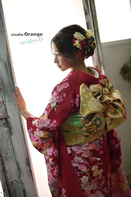 宝塚市 成人式 前撮り 後撮り 振袖 スタジオオレンジモンテシート