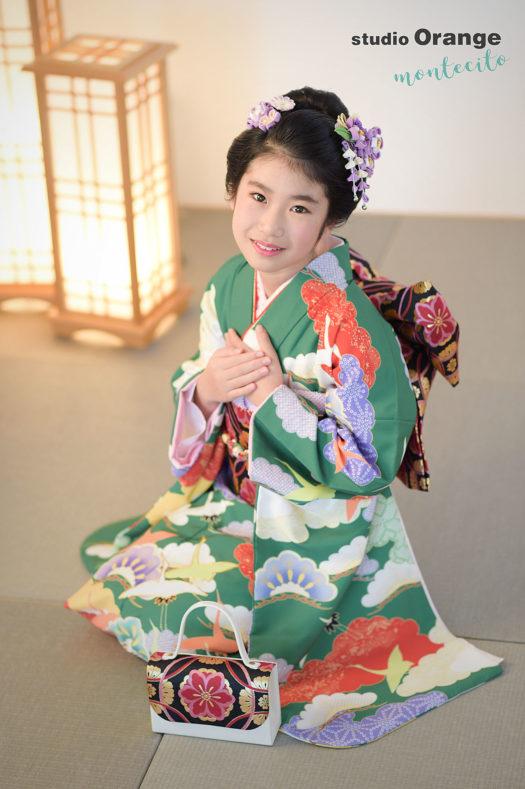 尼崎市 1/2成人式 二分の一成人式 日本髪 スタジオ着物