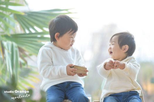 宝塚市 写真館 お誕生日 兄弟 男の子