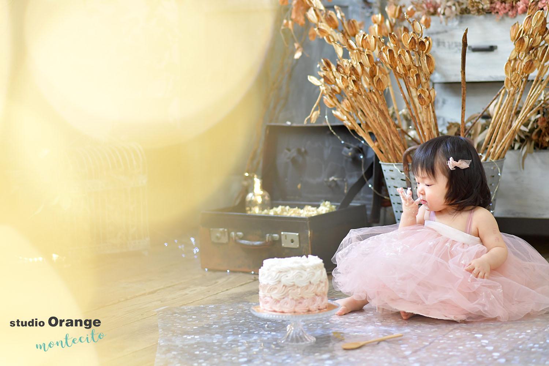 大阪市 お誕生日撮影 スマッシュケーキ