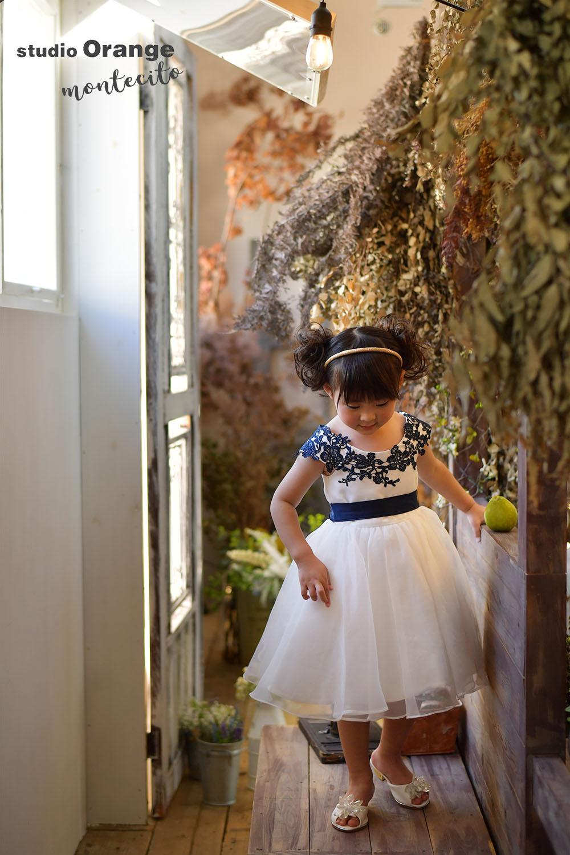 川西市 七五三撮影 洋装 ドレス