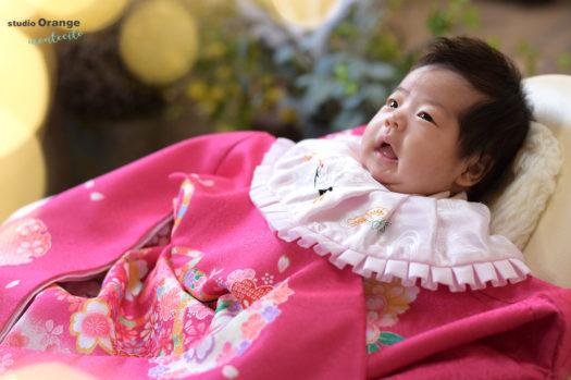 伊丹市 お宮参り 生後一ヶ月 女の子 お祝い着