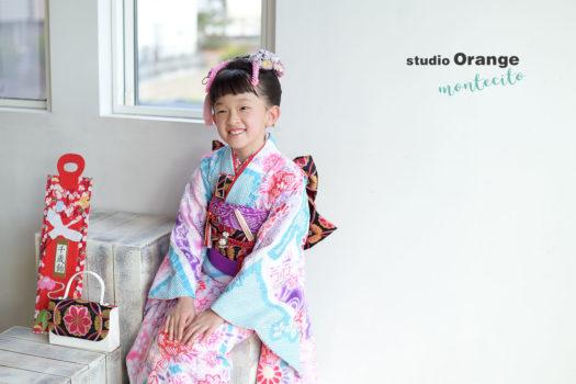 川西市 七五三 7歳女の子 着物 日本髪
