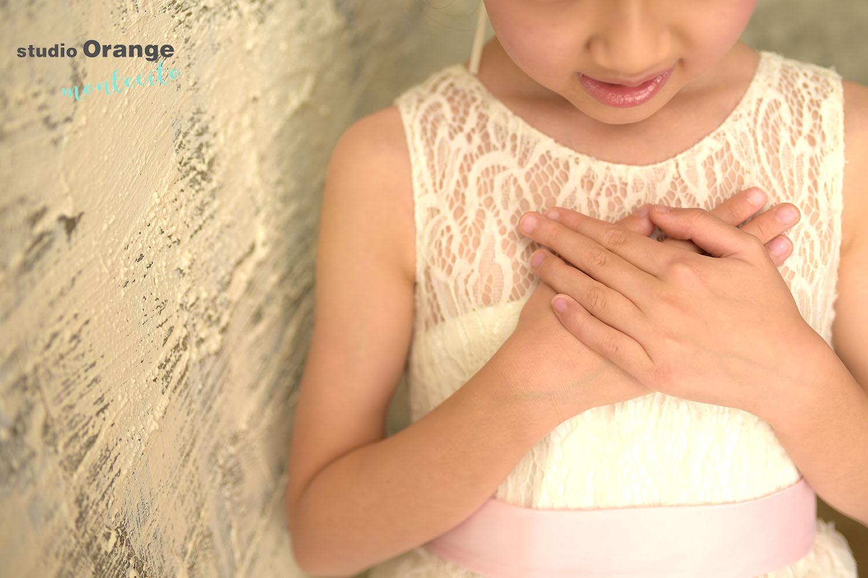 川西市 七五三 7歳女の子 洋装 ドレス