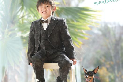 伊丹市 七五三 五歳男の子 洋装 ペット撮影