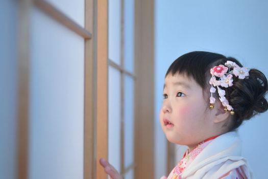 川西市 七五三 3歳女の子 着物