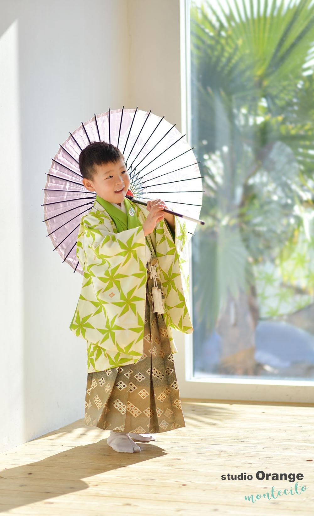 川西市 七五三 5歳男の子 着物