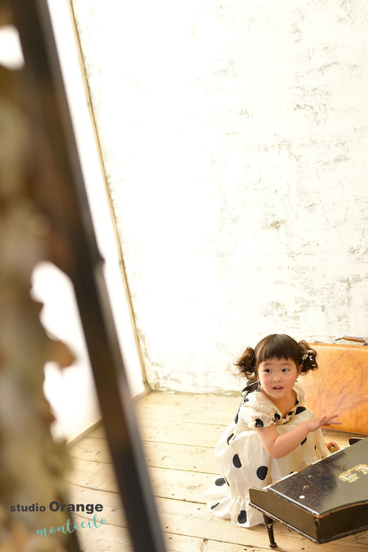 川西市 七五三 3歳女の子 洋装