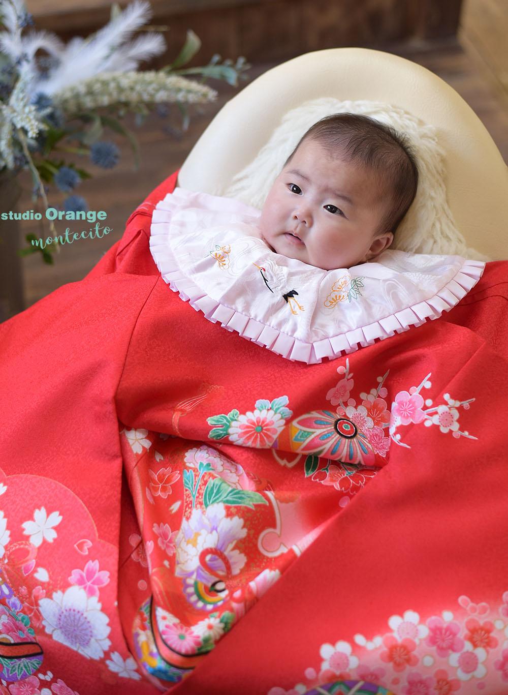 さいたま市 お宮参り 生後四ヶ月女の子 お祝い着