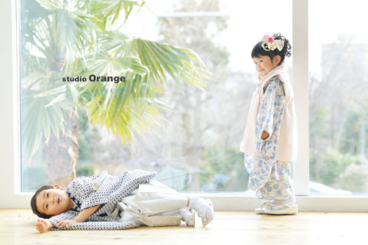 三田市 七五三 写真館 フォトスタジオ 和装 着物 スタジオオレンジモンテシート