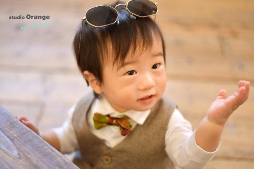 お誕生日 バースデーフォト 男の子 1歳 宝塚市 写真館 スタジオオレンジモンテシート
