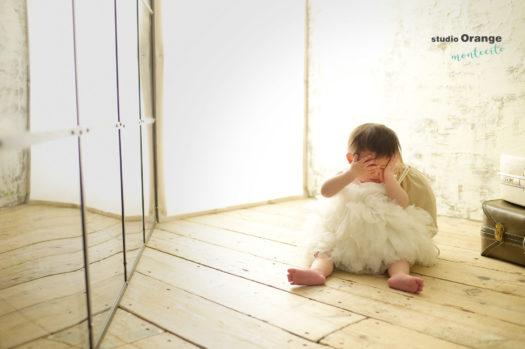 バースデーフォト 1才 宝塚市 尼崎市 写真館 スタジオオレンジモンテシート 一升パン