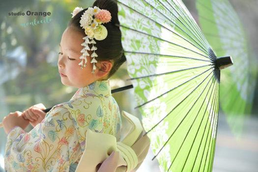 宝塚市 七五三 宝塚市 三田市 日本髪 オリジナル 着物 日本髪 写真館 フォトスタジオ