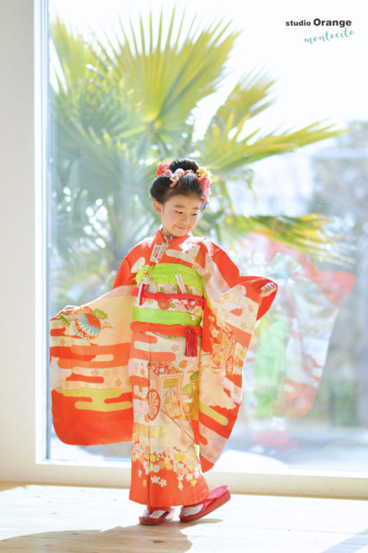七五三 宝塚市 和装 手結び帯 日本髪 写真館 フォトスタジオ