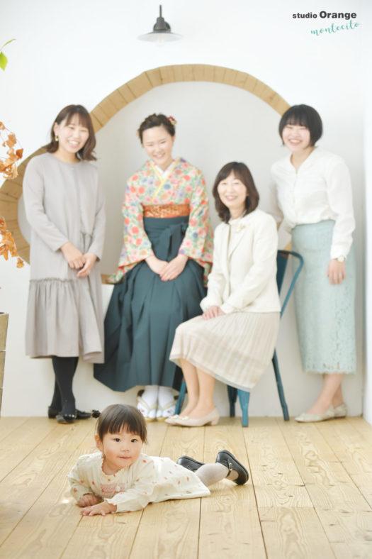 卒業袴 女の子 ご家族撮影