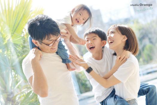 家族撮影 お誕生日 リンクコーデ