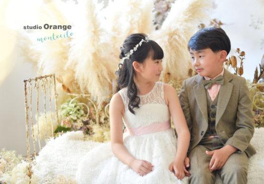 宝塚市 写真館 兄弟 洋装 10歳記念 2分の1成人式