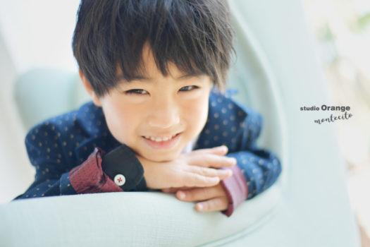 七五三 洋装 男の子 5歳 宝塚市 写真館 スタジオオレンジモンテシート