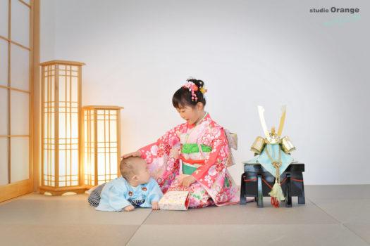 端午の節句 宝塚市 着物 写真館 フォトスタジオ スタジオオレンジモンテシート