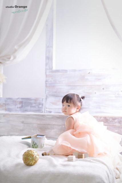 バースデーフォト 女の子 ドレス 宝塚市 写真館 スタジオオレンジモンテシート