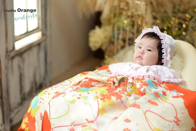 宝塚市 お宮参り 持ち込み着物 3ヶ月女の子