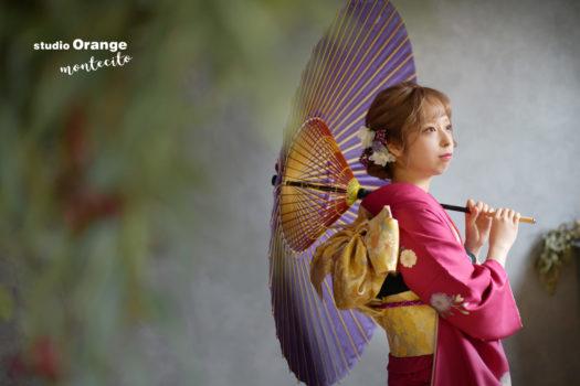 成人 振袖 前撮り 後撮り 宝塚市 スタジオオレンジモンテシート