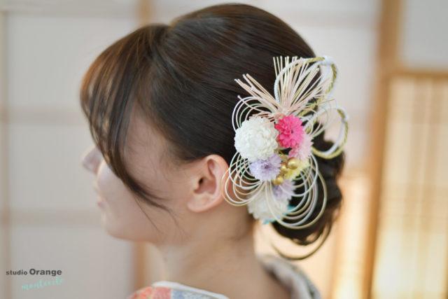 宝塚市 池田市 成人式 前撮り撮影 髪飾り